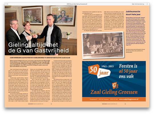 Zaal Gieling Groessen in MKB Duiven